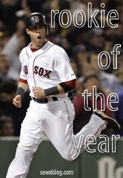 Dustin Pedroia 2007 Rookie of the Year
