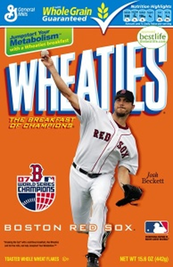 Josh Beckett on a Wheaties box, are you kidding me!
