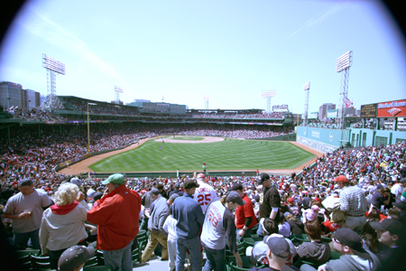 A beautiful view of Fenway Park in all it's glory