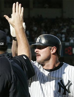 I can't wait for Jason Giambi and his ugly mustache to be watching the playoffs on TV...