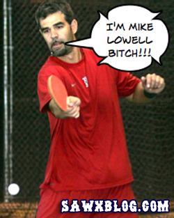 Mike Lowell is a Ping Pong Master